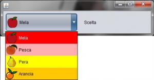 Personalizzazione Visualizzazione JComboBox